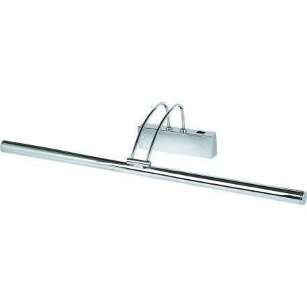 CHROME PICTURE LIGHT WITH ADJUSTABLE HEAD