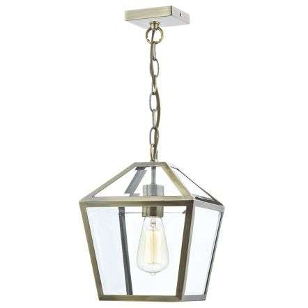 Churchill 1 Light Pendant Antique Brass