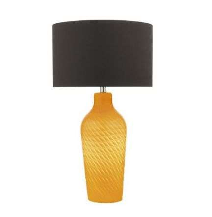 Cibana Table Lamp Dual Source Yellow Complete With Shade