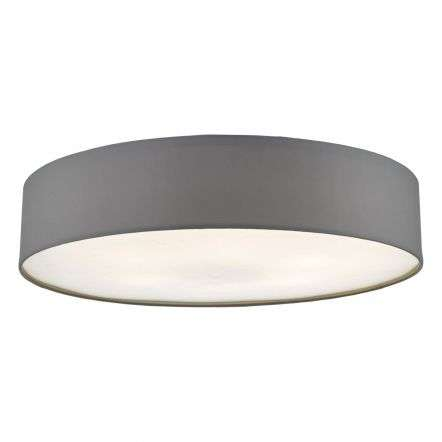 Cierro 6 Light Flush Fitting in Grey