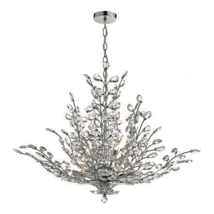 Cordelia 9 Light Pendant Polished Chrome & Crystal