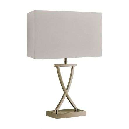 Cross Antique Brass Table Lamp With Cream Shade