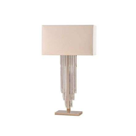 Crystal Cascade table & cream shade 40W SW