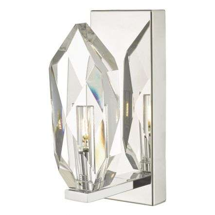 Crystal Wall Light in Polished Chrome