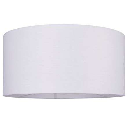 Cylinder Shade 500mm  in White Cotton Fabric