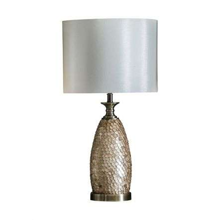 Dahlia Antique Brass Plated Table Lamp C/W Shade
