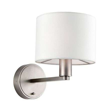 Daley Wall Light in Nickel C/W White Shade