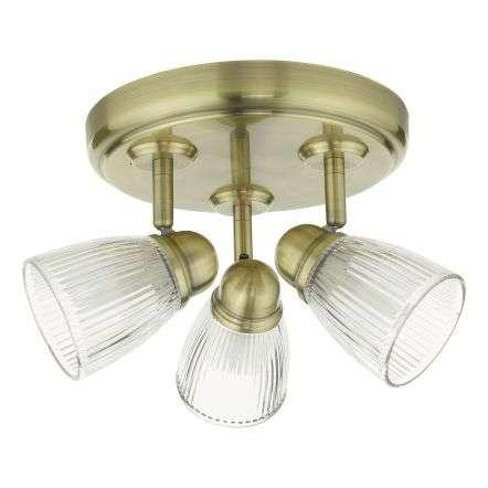 Dar Lighting CED7675 Cedric 3 Light Spotlight Antique Brass