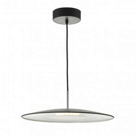 Dar Lighting ENO012 Enoch Pendant LED White & Stainless Steel