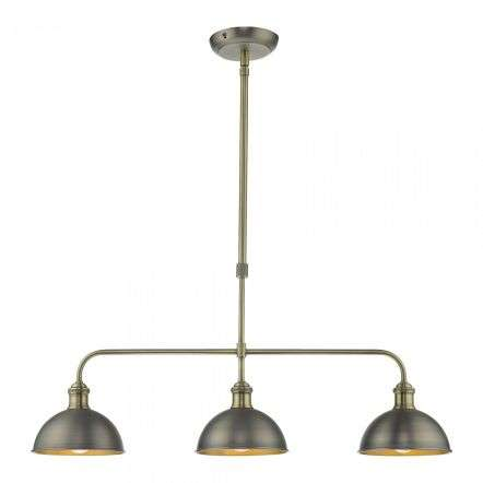 Dar Lighting GOV0761 Governor Single Spotlight Antique Chrome Antique Brass