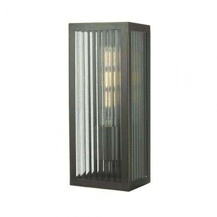 Dar Lighting KEE5263 Keegan Wall Light Rubbed Bronze Small IP44
