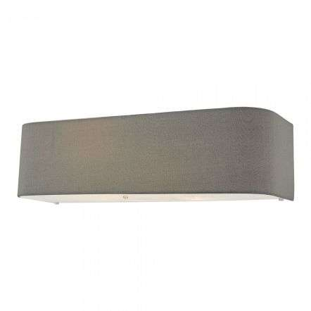 Dar Lighting RON0939 Ronda 2 Light Wall Light Grey