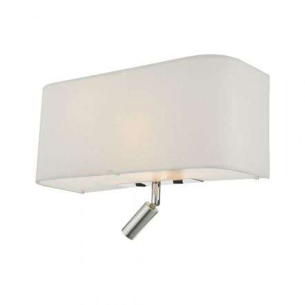 Dar Lighting RON712L Ronda 3 Light Wall Light Ivory With LED Reading Light