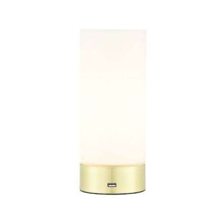 Dara Table Lamp & USB Charging Port Brushed Brass