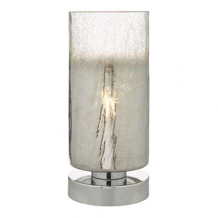 Deena Table Lamp Crackle Glass and Polished Chrome Touch