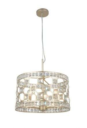 Diana 3 Light Crystal Pendant Champagne Gold