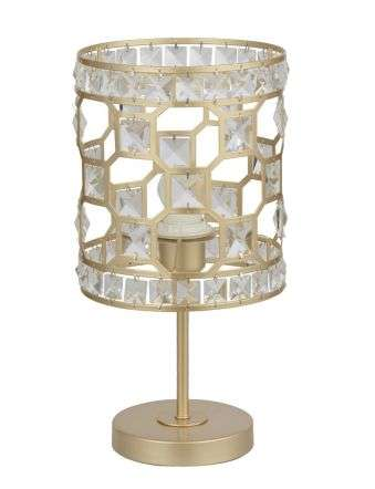 Diana Crystal Table Lamp in Champagne Gold