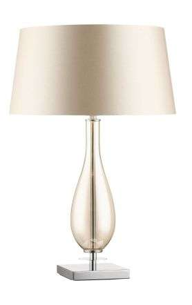 Dior Amber Glass Table Lamp c/w Shade