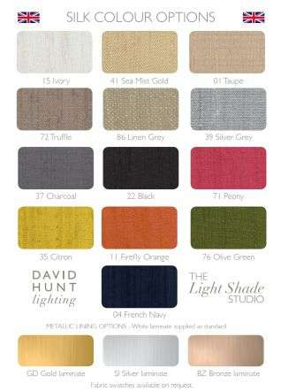 Doreen Pewter 5 Light Pendant with Bespoke Silk Shades