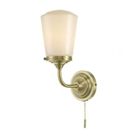 d�r lighting CAD0775 Caden Bathroom Wall Light Antique Brass