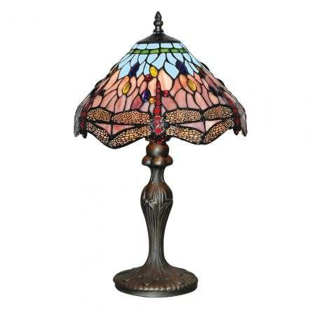 Dragonfly Tiffany Table Lamp Antique Brass