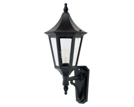 Duran Medium 6-Sided Upturned Wall Lantern | Online Lighting Shop