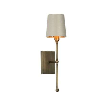 Durrell Solid Antique Brass Single Wall Light