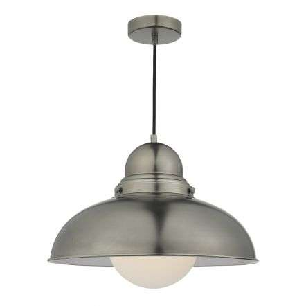 Dynamo 1 Light Large Pendant Antique Chrome