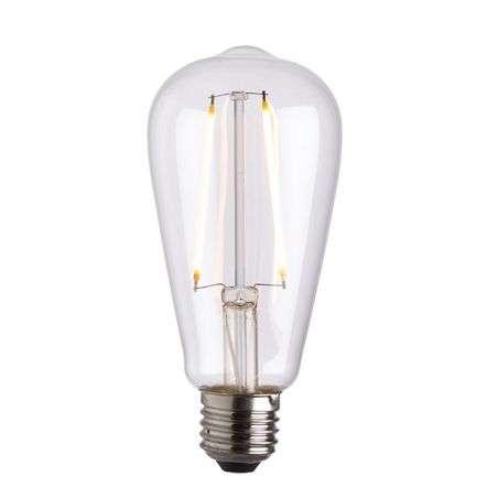 E27 LED Filament Pear Clear Glass 2W Warm White