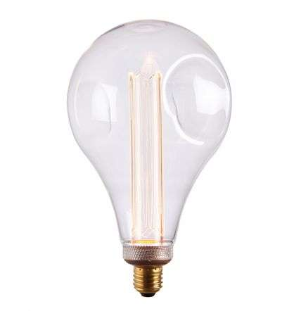 E27 LED XL Dimple Globe Clear Glass 2.5W Warm White