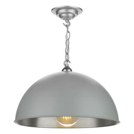 Ealing Small Pendant in Powder Grey