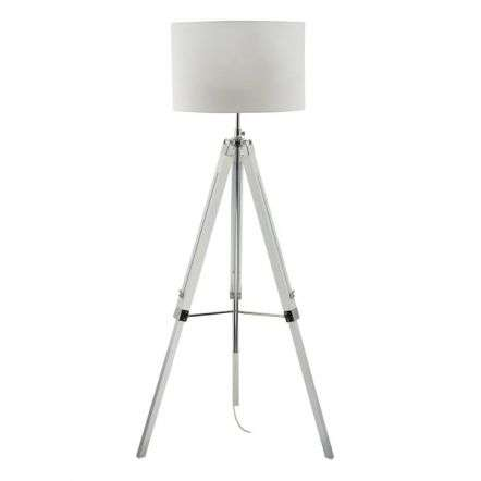 EASEL tripod floor lamp base only white finish