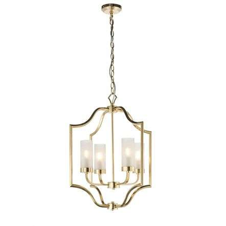 Edrea 4 Light Pendant in Satin Brass Finish