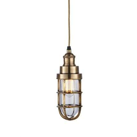 Elcot Pendant in Brass Finish