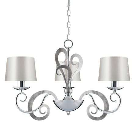 Eleonor 3 Light 2 Tone Chrome Ceiling Light | Online Lighting Shop