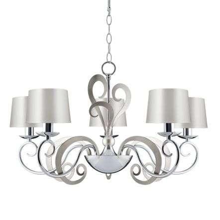 Eleonor 5 Light 2 tone Chrome Ceiling Light | Online Lighting Shop