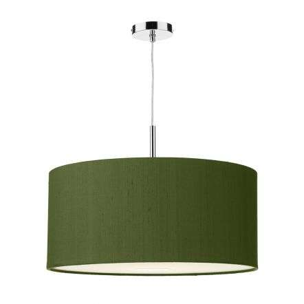 Ellington 40cm Pendant with Bespoke 100% Silk Shade Choice Colours