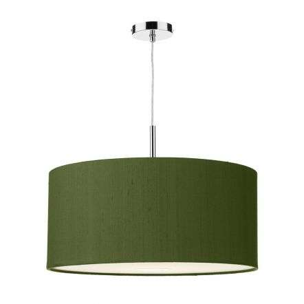 Ellington 50cm Pendant with Bespoke 100% Silk Shade Choice Colours