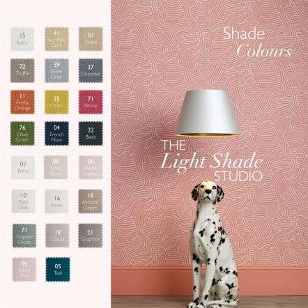 Ellington 60cm Pendant with Bespoke 100% Silk Shade Choice Colours