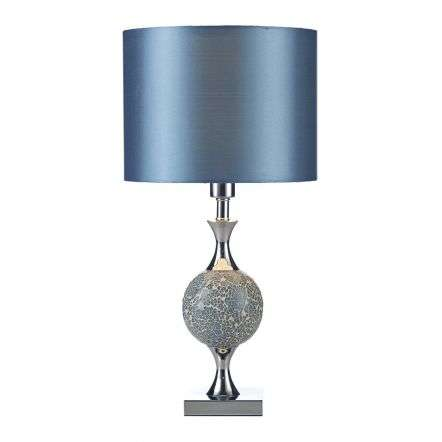 Elsa Table Lamp Blue Mosaic complete with Shade