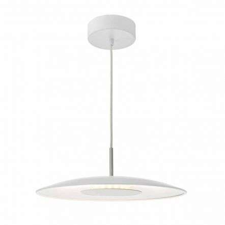 Enoch Pendant LED White & Stainless Steel