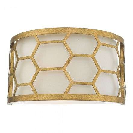 Epstein 1 Light Wall Light Gold & Ivory