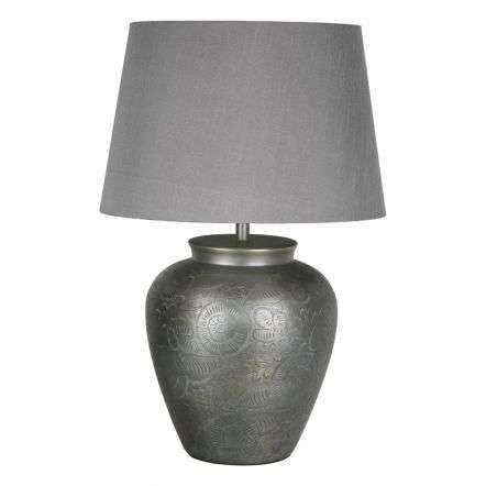 Eshal Table Lamp Antique Silver Base Only