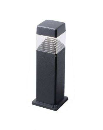 Ester 500mm Black Clear LED 7W GX53 Bollard Post Light