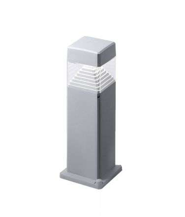Ester 500mm Grey Clear LED 7W GX53 Bollard Post Light