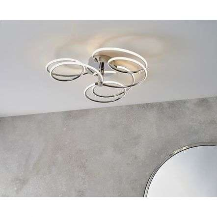 Eterne 3 Light LED Semi-Flush Fitting
