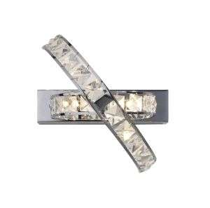 Eternity 3-Light Polished Chrome And Crystal Wall Bracket