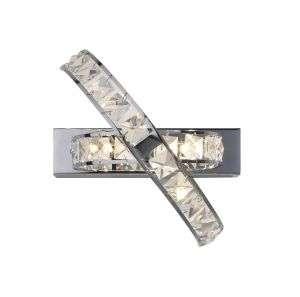 Eternity 3-Light Polished Chrome And Crystal Wall Bracket