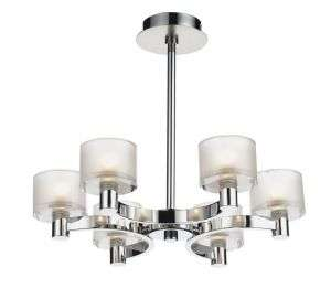 Eton 6-Light Polished And Satin Chrome Semi-Flush Fitting