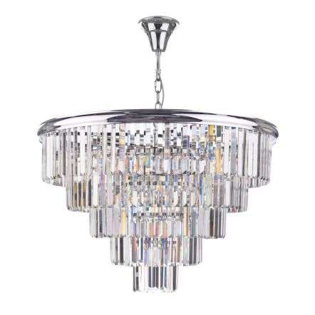 Eulalia 12 Light Chandelier Polished Chrome Crystal
